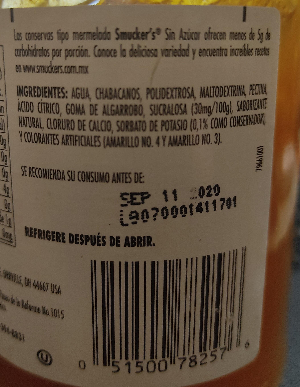 Mermelada de chabacano sin azúcar - Ingredientes - es