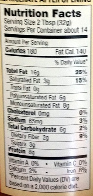 Maranatha, organic no stir peanut butter creamy - Nutrition facts - en