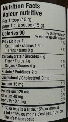 tartinade d'amandes et chocolat noir - Nutrition facts