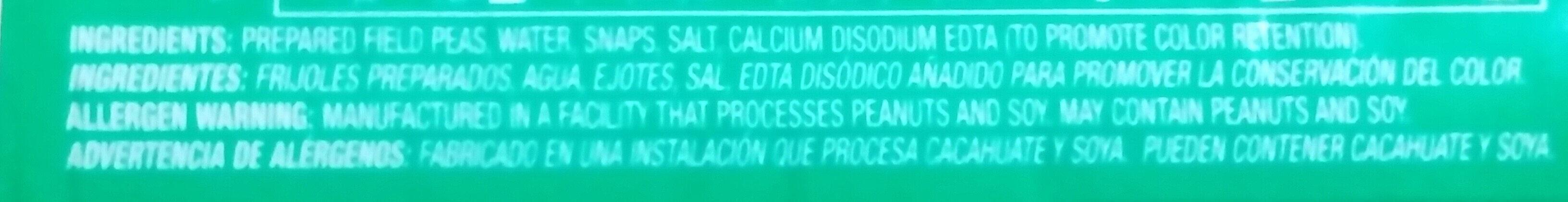 Field Peas & Snaps - Ingredients