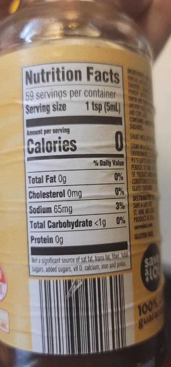 Worcestershire Sauce - Informations nutritionnelles - en