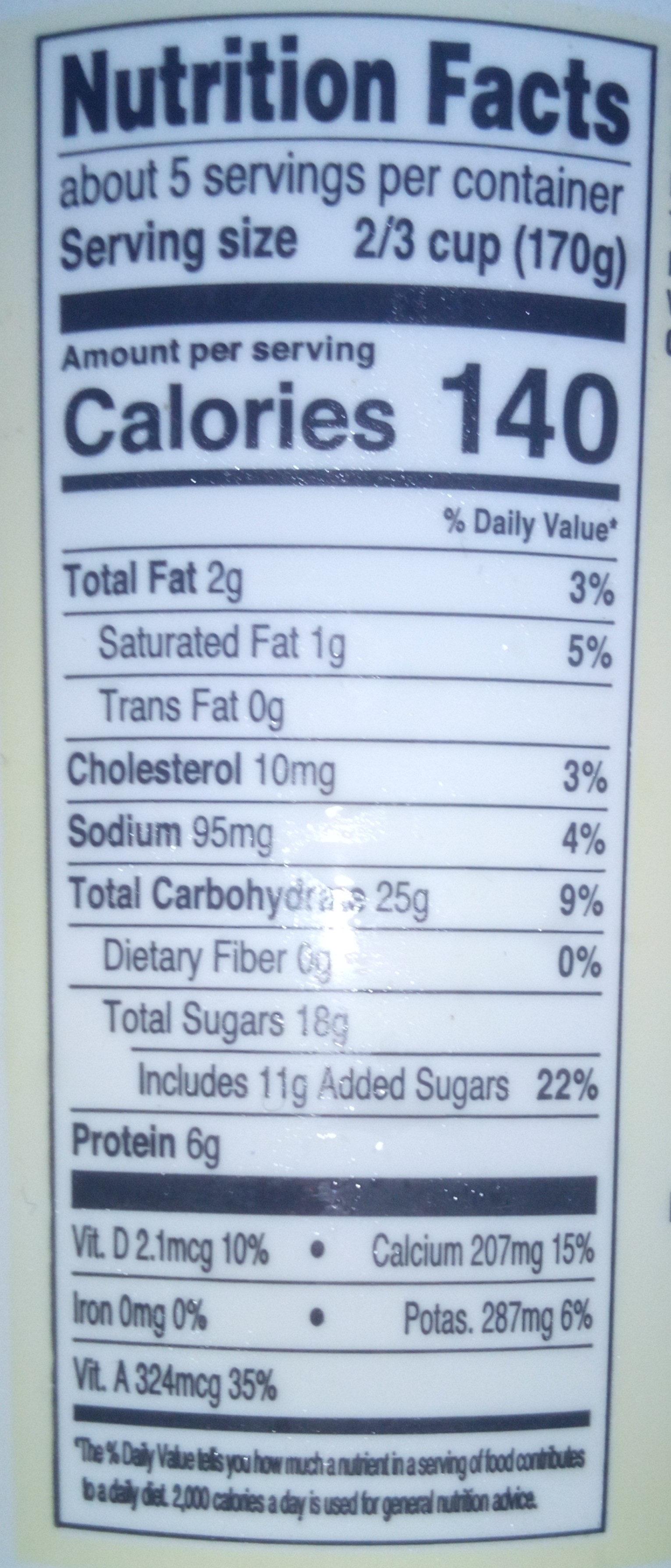 Low Fat Yogurt - Ingredients - en