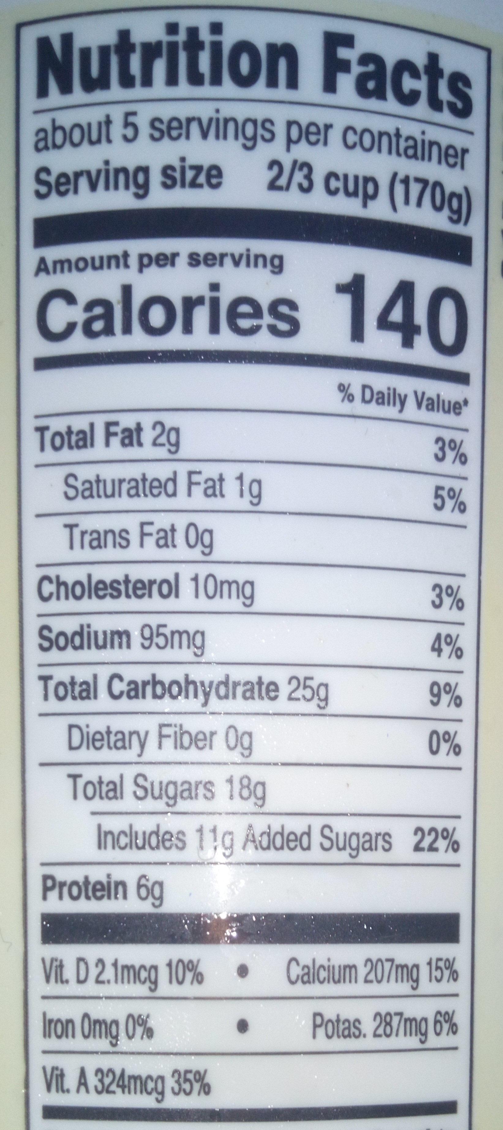 Low Fat Yogurt - Nutrition facts - en