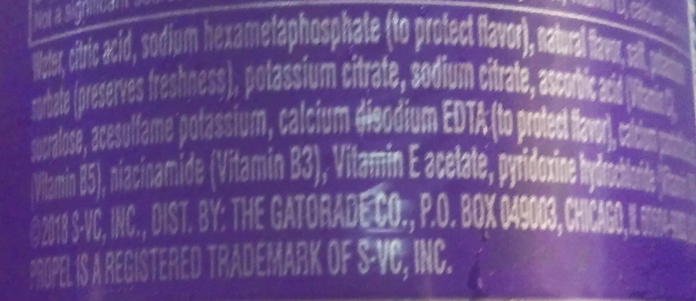 propel - Ingredienti - en