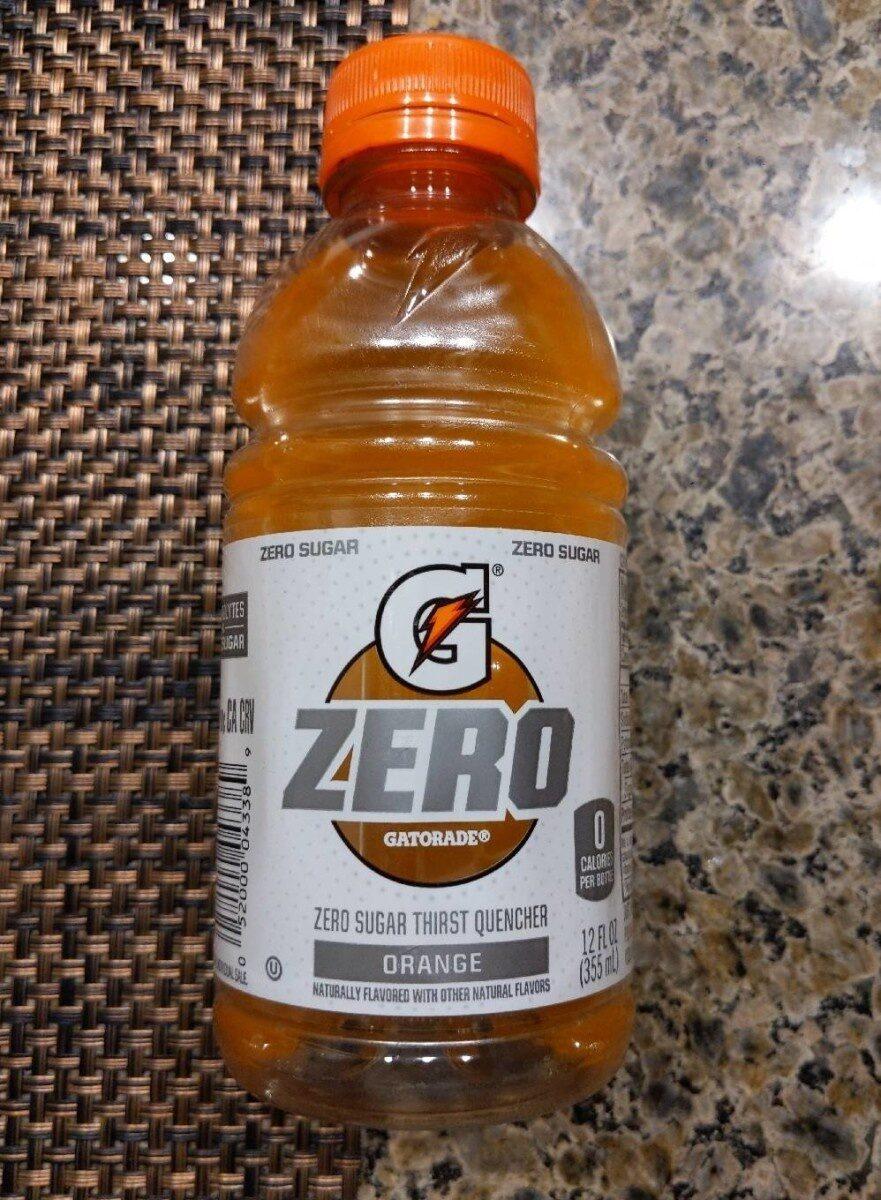 Orange zero sugar thirst quencher, orange - Product - en