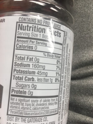 Gatorade zero glacier cherry - Ingrediënten - en