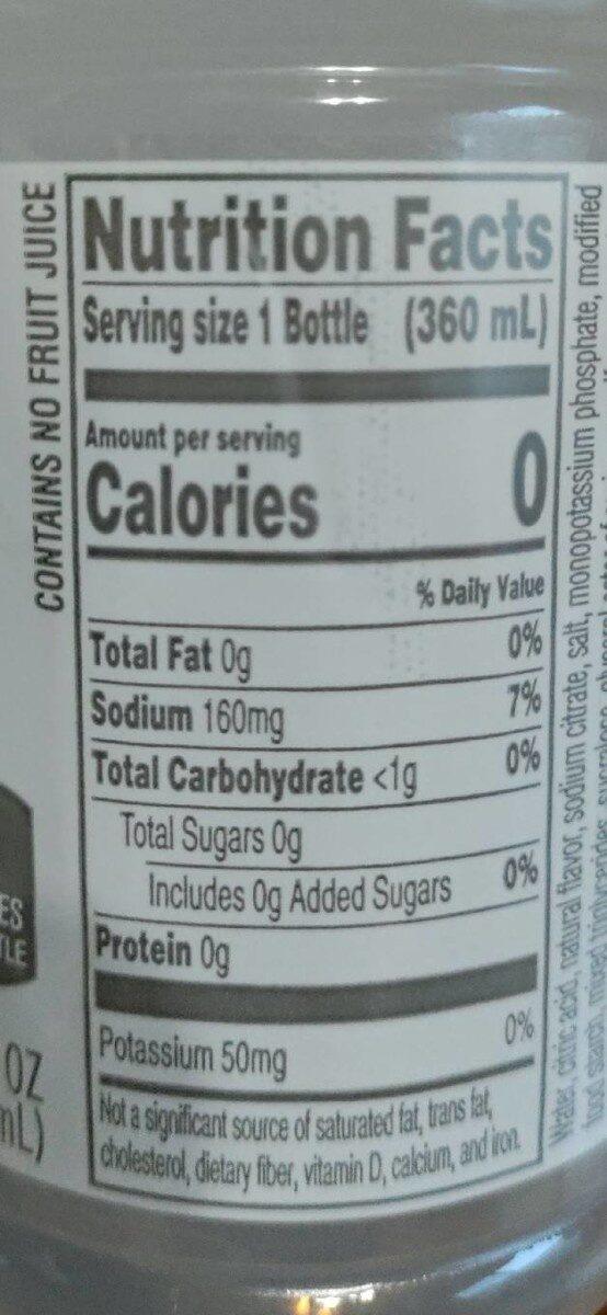 Gatorade zero glacier cherry - Voedingswaarden - en