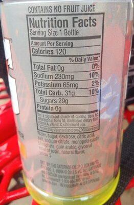 Lemon-lime thirst quencher, lemon-lime - Voedingswaarden - en