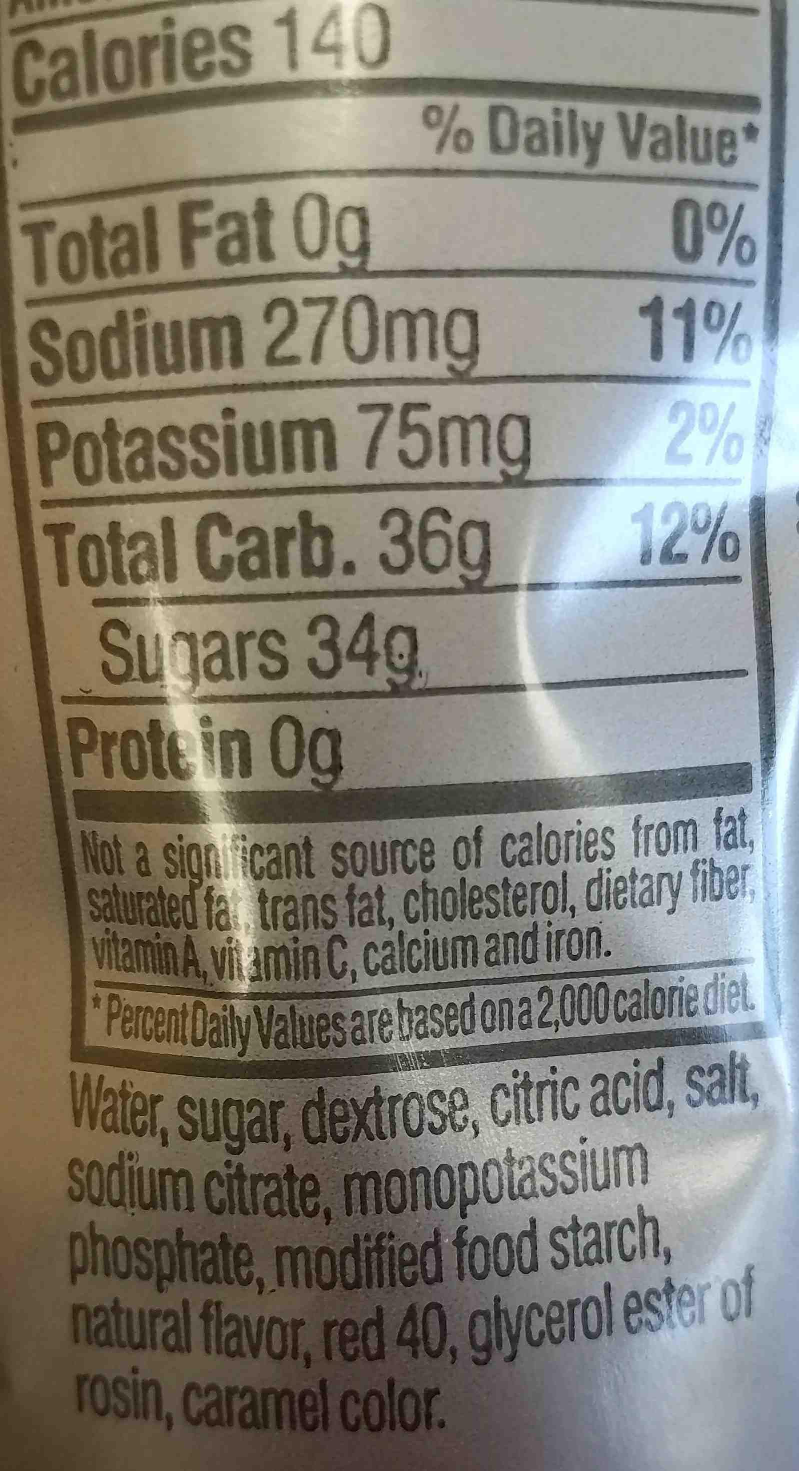 Fruit punch thirst quencher, fruit punch - Ingrediënten - en