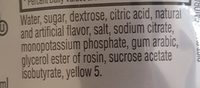 Lemonade thirst quencher, lemonade - Ingrediënten - en