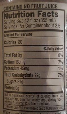 Lemonade thirst quencher, lemonade - Voedingswaarden - en