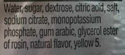 Gatorade Lemon-Lime - Ingredients
