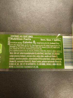 Kiwi Strawberry Water Beverage 20 Fluid Ounce Bottle - Ingrediënten - en