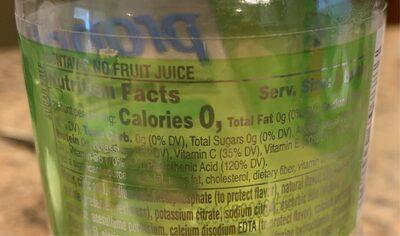 Kiwi Strawberry Water Beverage 20 Fluid Ounce Bottle - Voedingswaarden - en