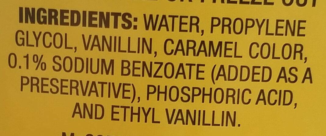 Imitation Vanilla Flavor - Ingrediënten