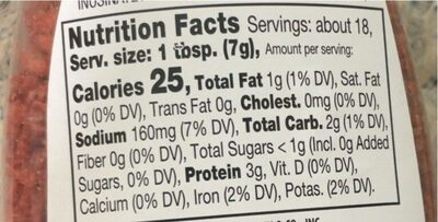 Bac'N Pieces, Bacon Flavored Bits - Nutrition facts - en