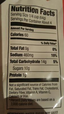 Skillet sauce - Nutrition facts - en
