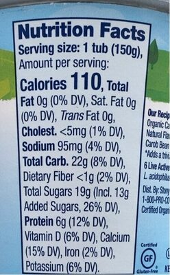 Organic chocolate on the bottom fat free nonfat - Nutrition facts - en
