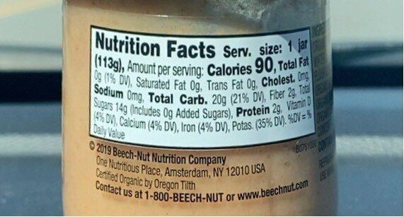 Beech nut organics banana, cinnamon & granola - Nutrition facts - en