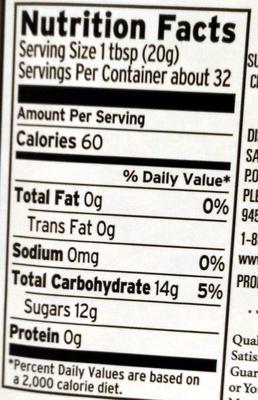 Strawberry Preserves - Informations nutritionnelles - en