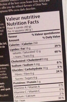 m - Informations nutritionnelles - en