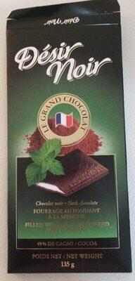 Chocolat noir - fourrage au fondant a la menthe - Produit - en