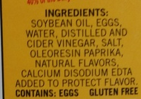 Real Mayonnaise - Ingredients