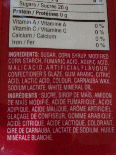 Cherry Sours - Ingrediënten - en