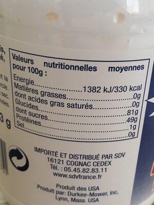 Marshmallow fluff - Nutrition facts - en