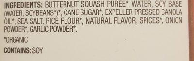 Organic creamy butternut squash soup, creamy butternut squash - Ingredients - en