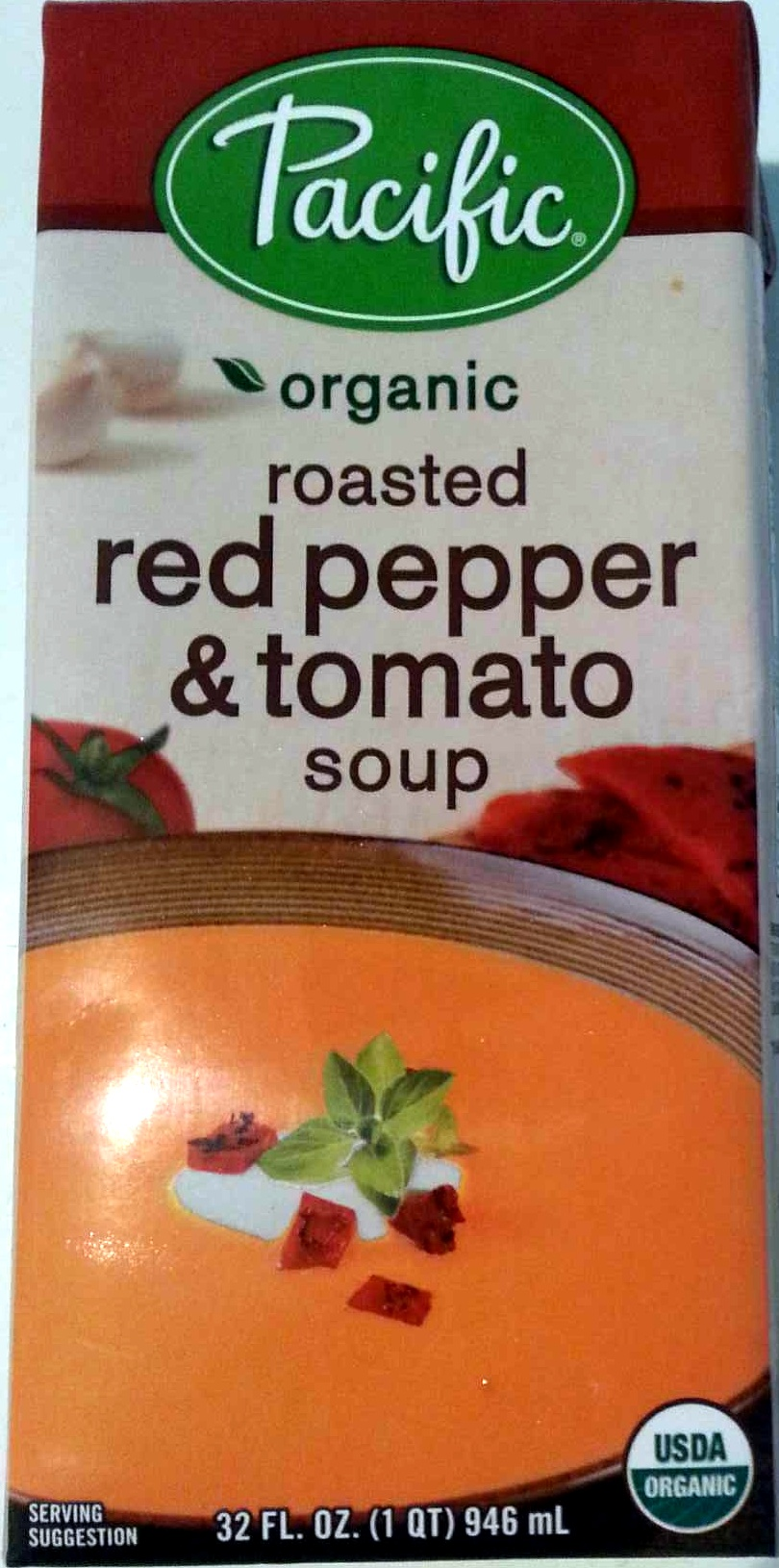 Organic roasted red pepper tomato soup pacific 946 ml for Roasted pepper tomato soup