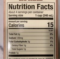 Organic low sodium vegetable broth - Nutrition facts - en