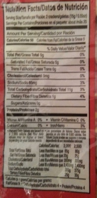 Genuine jamaican water crackers - Informations nutritionnelles - en