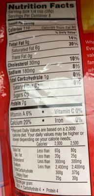 Sharp Cheddar Shredded Cheese - Nutrition facts - en