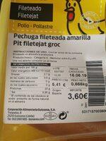 Pechuga - Ingredienti - es