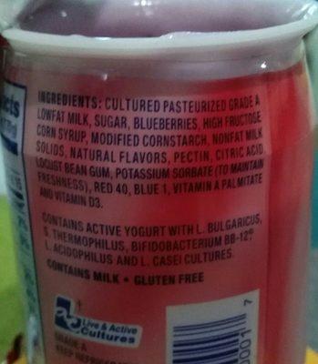 La Yogurt Probiotic - Ingrédients