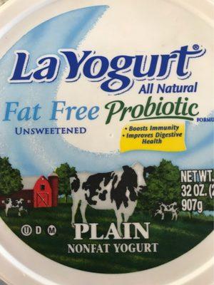 La yogurt, probiotic plain nonfat yogurt - Produit - fr