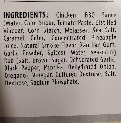 Pulled chicken in BBQ sauce - Ingredients - en
