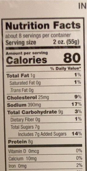 Pulled chicken in BBQ sauce - Nutrition facts - en