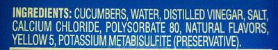 Kosher Dill Gherkins - Ingredients