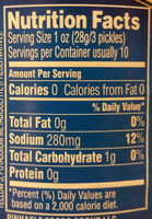 Kosher Dill Gherkins - Nutrition facts