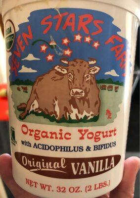 Organic yogurt original vanilla - Product