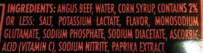 Angus beef franks - Ingrédients - en