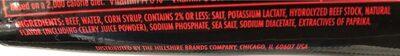 Uncured beef franks - Ingredients - en