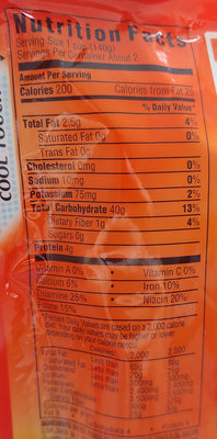 Original ready rice - Nutrition facts - en