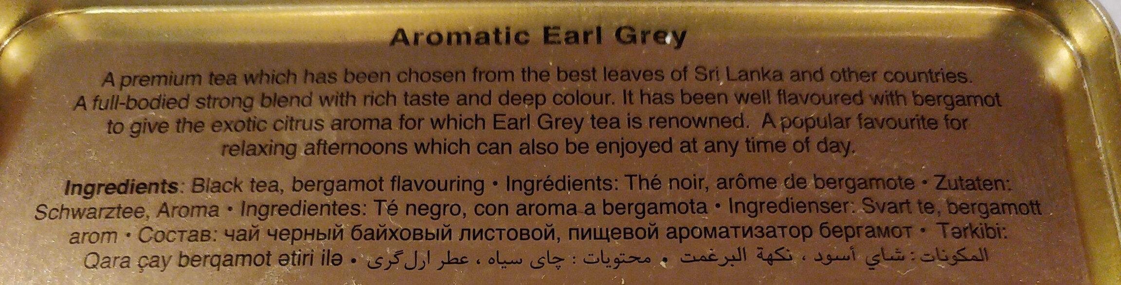 Aromatic Earl Grey - Ingredients - en
