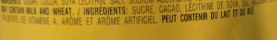 Nesquik Less Sugar - Ingrédients - fr