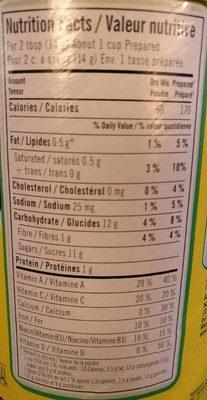 Nesquik Less Sugar - Informations nutritionnelles - fr