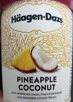 Crème glacé ananas et noix de coco - Produit - fr