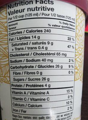 Crème glacé ananas et noix de coco - Informations nutritionnelles - fr